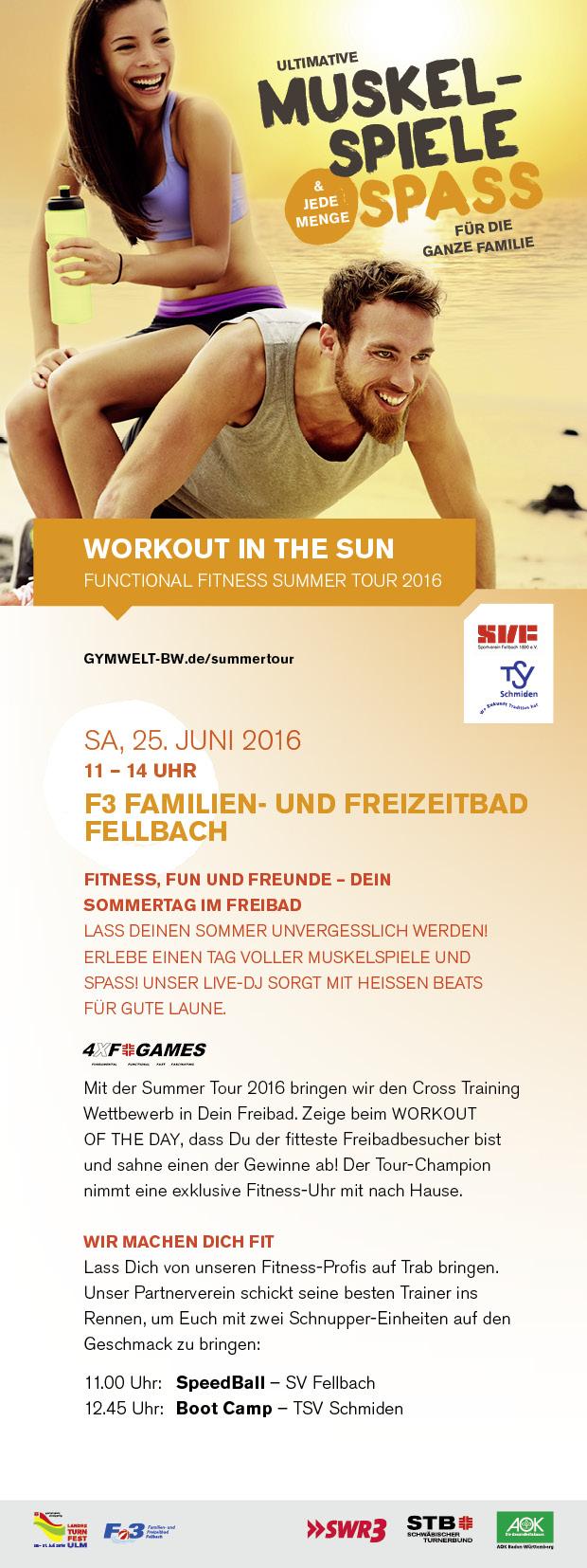 STB SummerTour 2016 mit 4XF Training