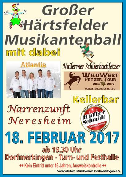 Großer Härtsfelder Musikantenball 2017