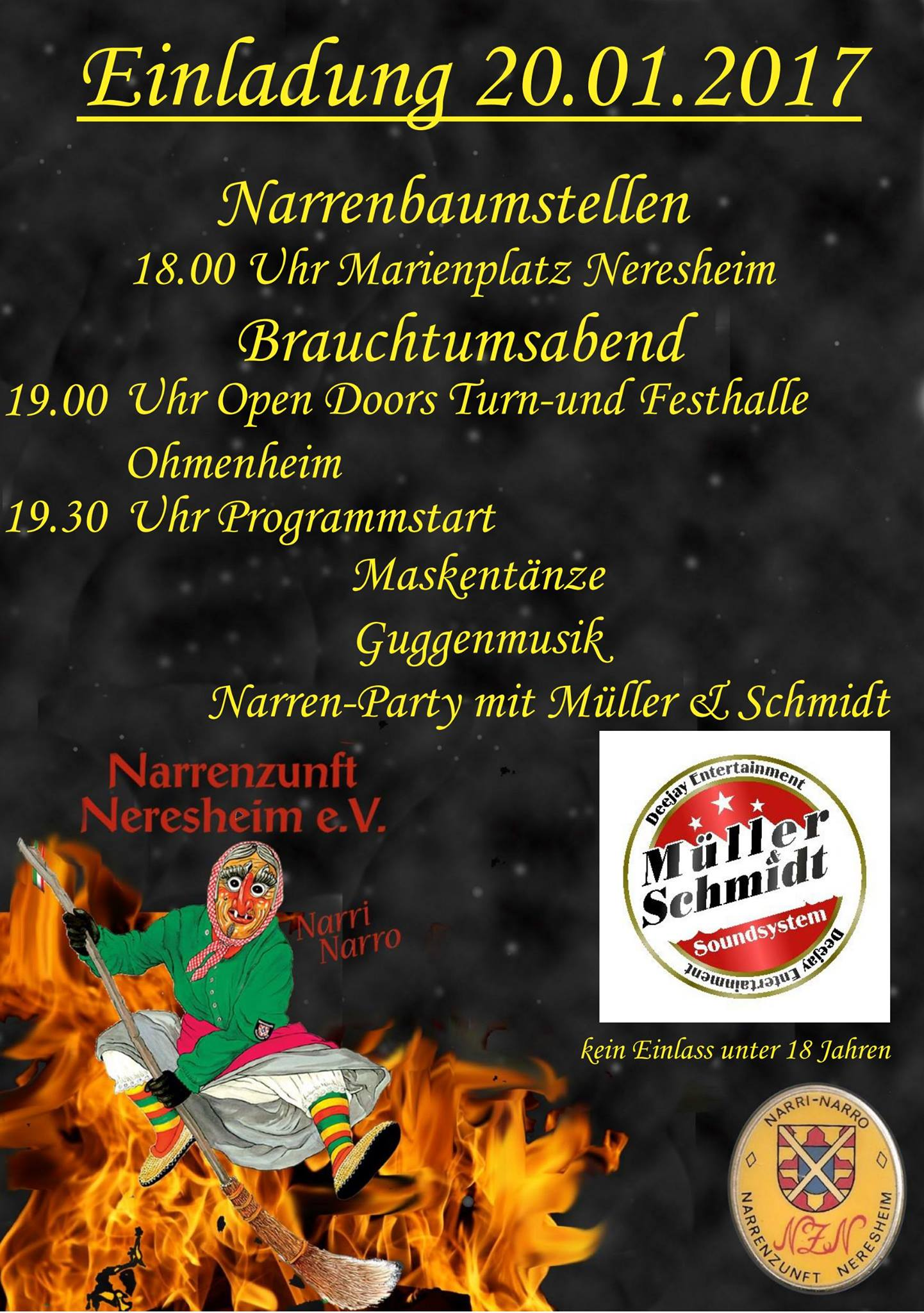 Narrenbaumstellen 2017 NZN Neresheim
