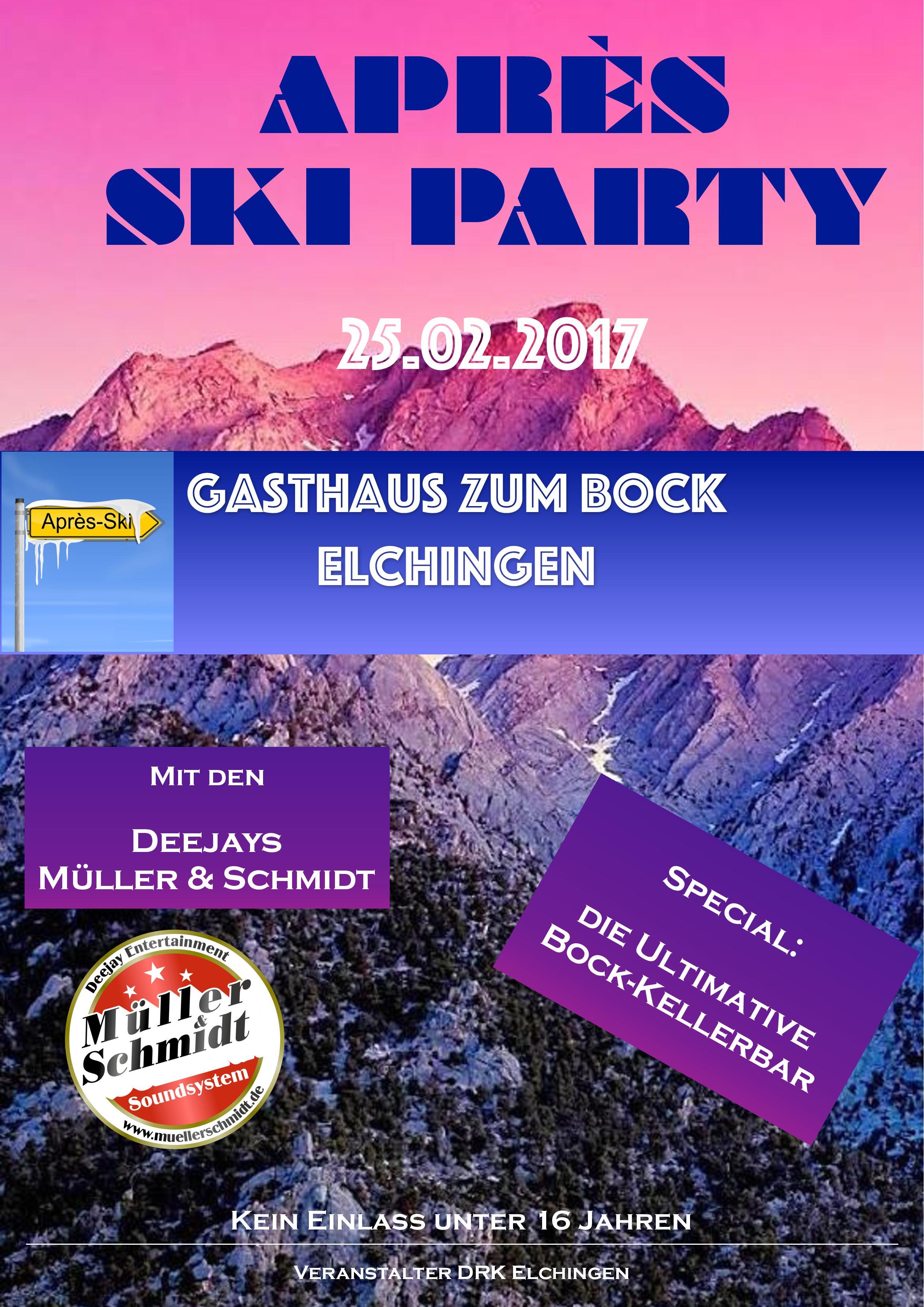 Apres Ski Party Elchingen DRK Fasching 2017