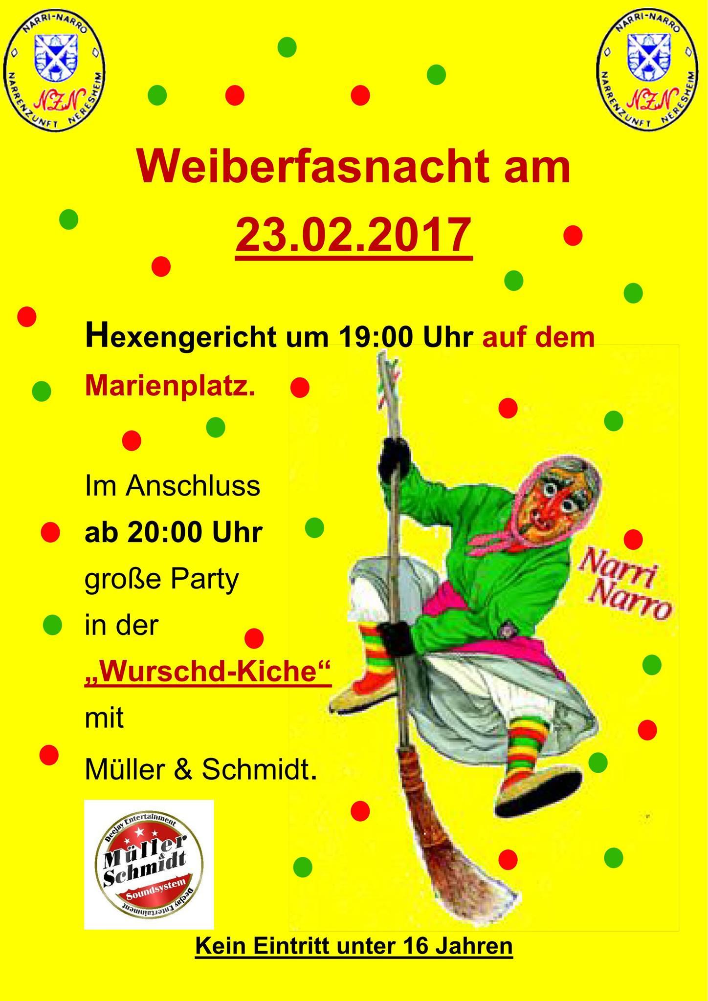 Weiberfasnacht in Neresheim